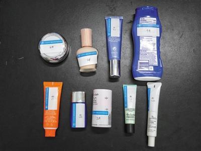 试验样品囊括6种防晒化装品和3种业余防晒霜。