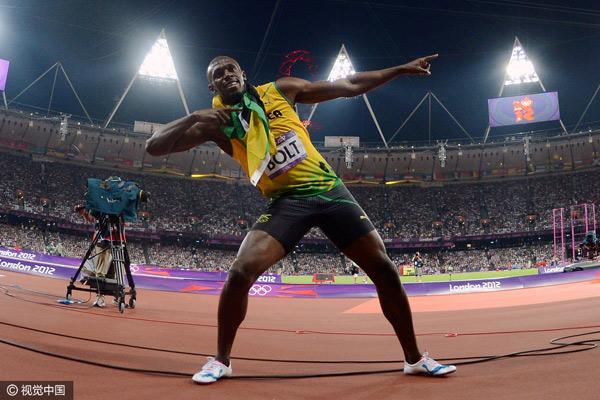 2,男子100米和200米,成绩分别为9秒58和19秒19,由牙买加闪电博尔特2009年在柏林世锦赛创造。