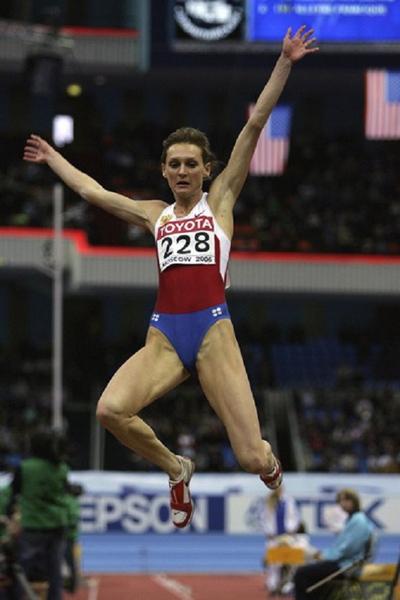 7,女子跳高,成绩为2米01,由保级利亚名将斯科塔迪诺娃1987年在罗马田径世锦赛创造。