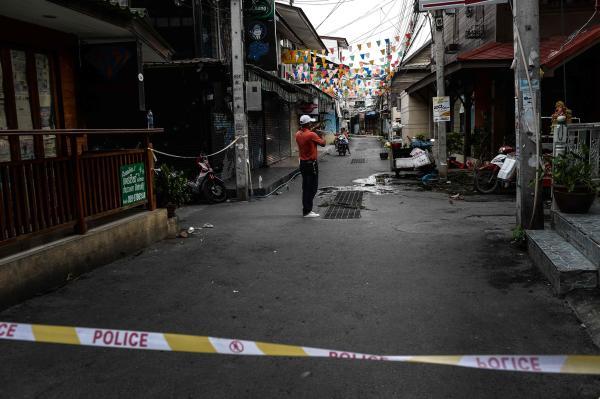 本地�r刻2016年8月13日,泰���A欣,大�通�^爆破�l作所在。 � 方IC �D