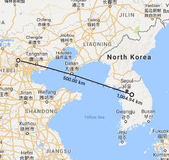 该导弹射程足以从汉城打到北京