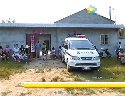 当日18时许,三人驾车路过徐集镇黄岳村附近时,章某误将趴在红芋地中玩
