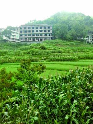 湖南新邵县迎光乡上沙溪村支书彭承双家新盖的房子。