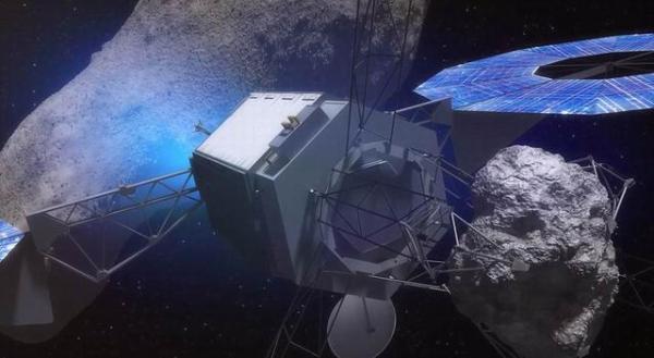 """""""小行星重定向任务""""示意图。"""