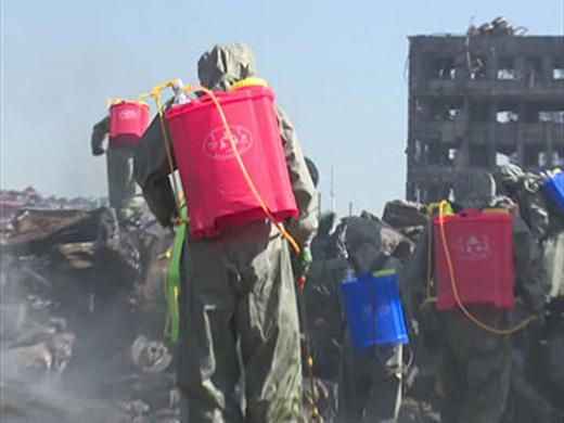 北京卫戍区某防化团在天津港爆炸救援中作出重大贡献获一等功