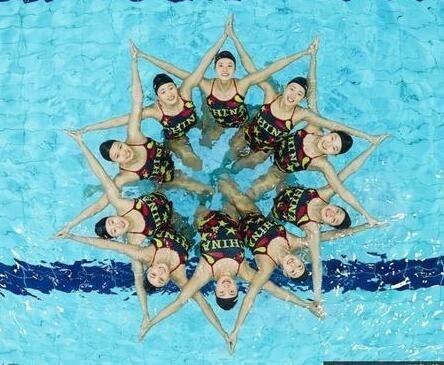 中国花样游泳队备战里约