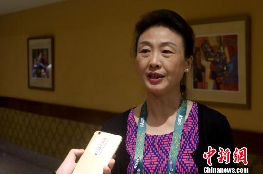 里约奥运会闭幕之际,国际奥委会委员、中国国家体育总局网球运动管理中心主任李玲蔚接受中新网专访。 余瑞冬 摄