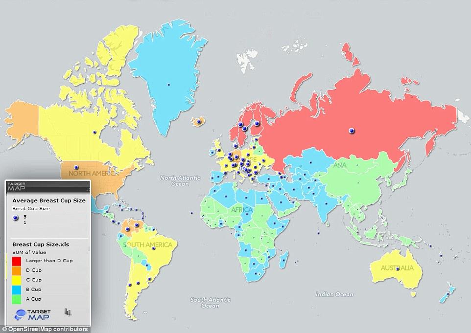 外媒:俄女性胸器世界第一 中国等亚洲国家垫底平均A罩杯