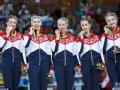 艺术体操俄罗斯集体全能五连冠 西班牙获银牌