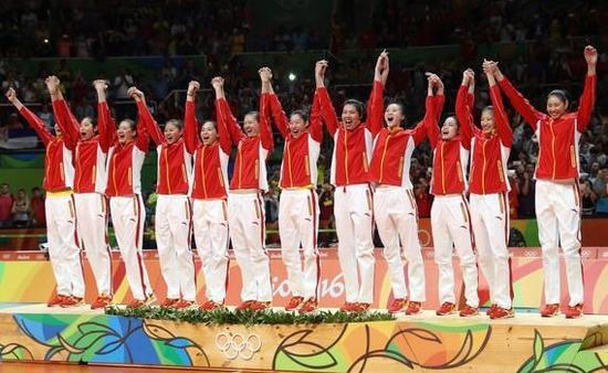 夺得里约奥运会排球冠军的中国女排图片