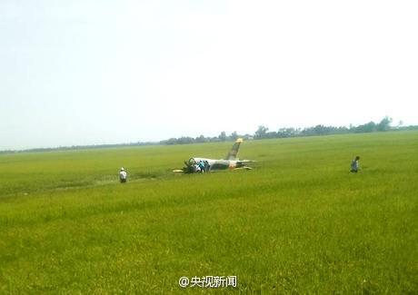 越南一架L39飞机坠毁
