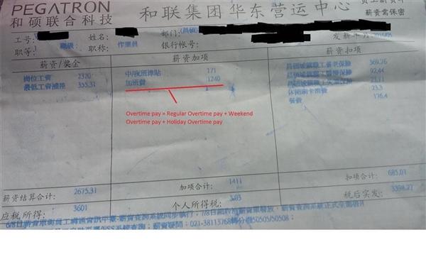 苹果中国血汗工厂:一个月加班109小时 没假期