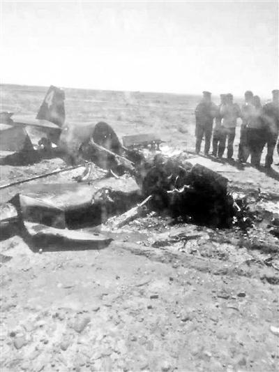 坠毁飞机残骸