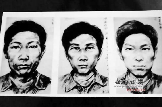 警方曾经公布的嫌犯画像。