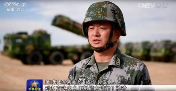 1军远火旅旅长孙卫钢在央视节目中接受采访