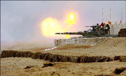 """台军""""汉光""""演习期间设立滩头坦克掩体"""