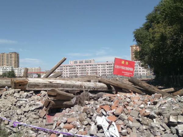 双城区7处不成挪动文物强拆现场。