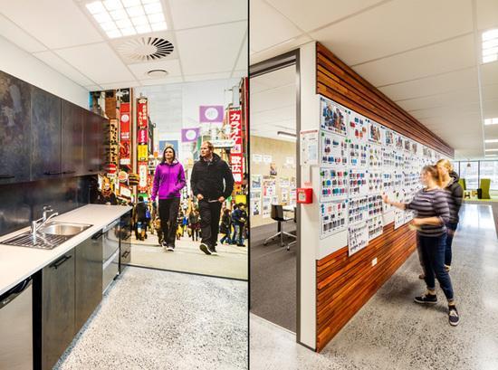 新西兰运动品牌公司创意办公空间