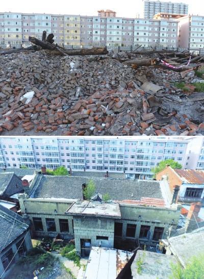 被损毁的刘亚楼故居。