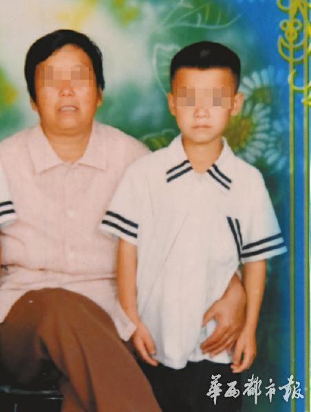 陈老师的儿子和岳母死后相片。
