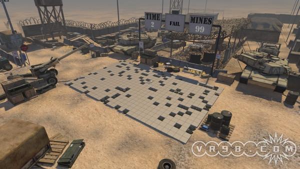 《扫雷VR》将平面的点点点搬到了酷炫的3D场景,玩家能够在像是真正雷区一样的地方上排雷,体验工兵的危险工作,插错旗子爆炸就在一瞬间。《扫雷VR》包括经典和街机两种模式,可以在游戏区域自由移动,有3个难度选项。