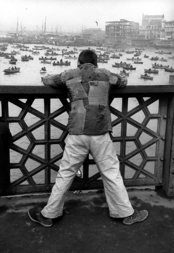 在加拉塔桥,伊斯坦布尔,土耳其 , 1955