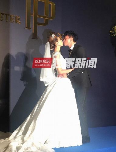 何润东与林静仪台北完婚 喊话洞房夜努力造人