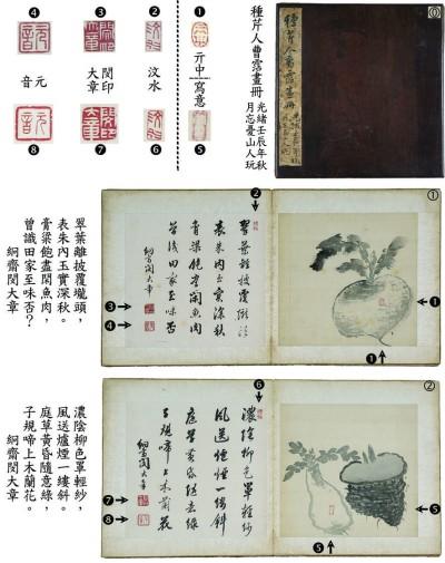 原文配图:贵州省博物馆藏《种芹人曹霑画册》。