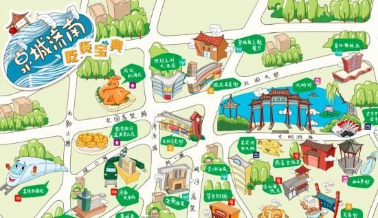 澳门美食街手绘地图
