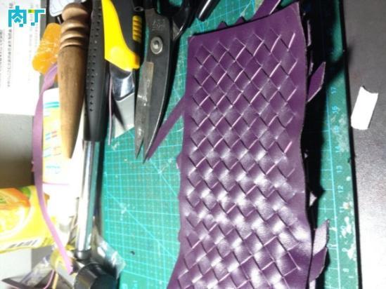 DIY羊皮编织钱包的制作教程 漂亮的皮革钱夹