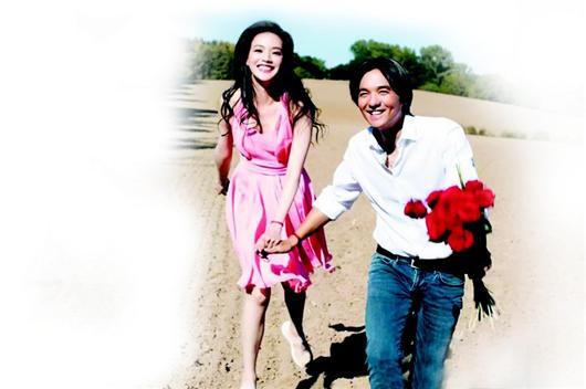 楚天都市报讯 图为:舒淇和冯德伦拍摄婚纱照的花絮,也同样温馨动人