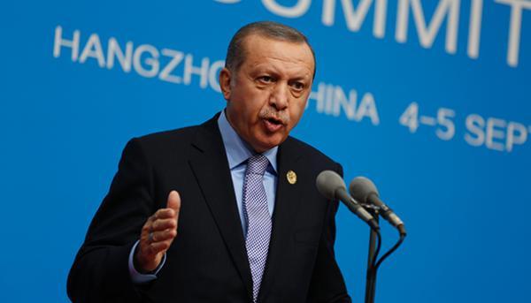 9月5日,埃尔多安在峰会结束后出席新闻发布会。