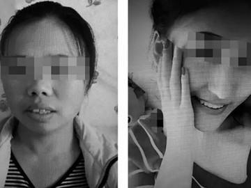 图为犯罪嫌疑人王某某本人(左)和其套用的美女照片(右)。