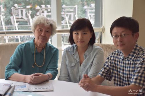 陈秋影老师在教师节前夕接受本网记者刘凝哲、凯雷专访。 大公网摄