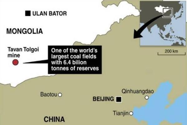 陶勒盖煤矿地理示意图