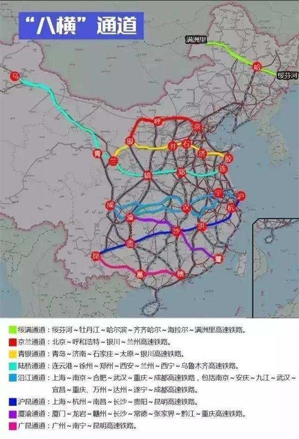按照最新发布的《中长期铁路网规划》,到2025年,我国铁路网规模将达17.5万公里左右,其中高铁3.8万公里左右,比2015年底翻一番。到2030年,基本实现内外互联互通、区际多路畅通、省会高铁连通、地市快速通达、县域基本覆盖。