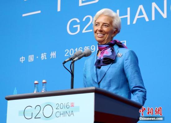 资料图片:国际货币基金组织总裁拉加德。 中新社记者 王刚 摄