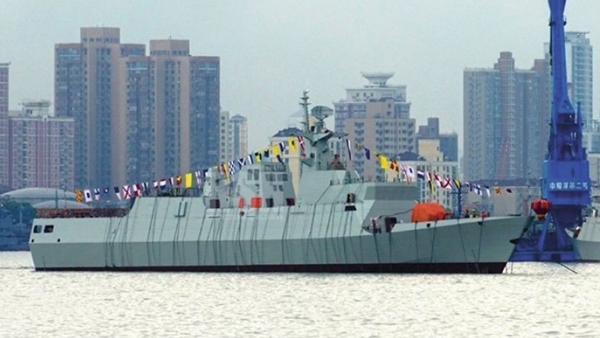 这一艘056A型护卫舰紧随着华中武汉武昌造船厂8月26日下水的同型舰艇开工下水。