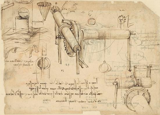 达・芬奇手稿《起重机》