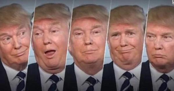 初选辩论会上,特朗普嬉笑怒骂的表情组图。