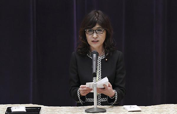 日本防卫大臣稻田朋美。