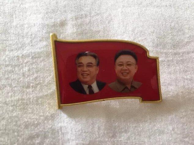 朝鲜指导人像章