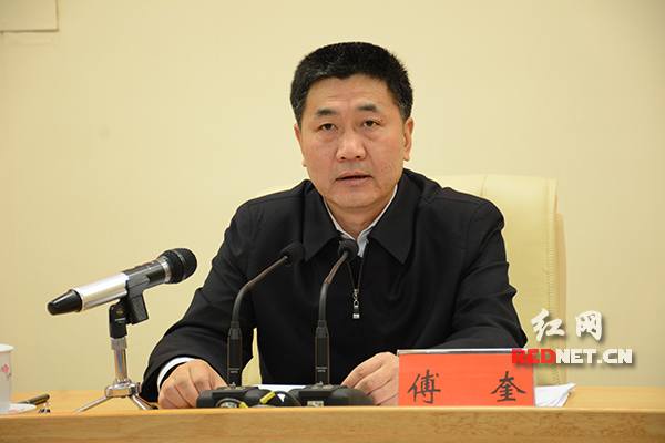 湖南省委常委、省纪委书记傅奎。 红网 资料图