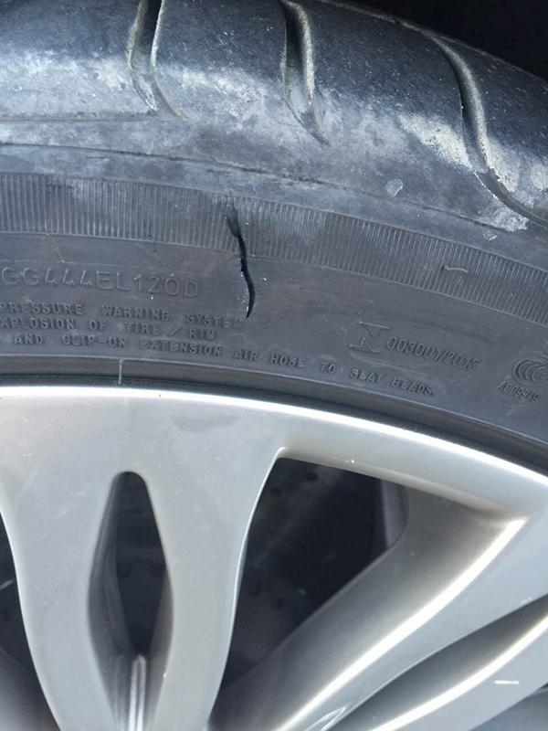 南通李先生8月坏的轮胎。