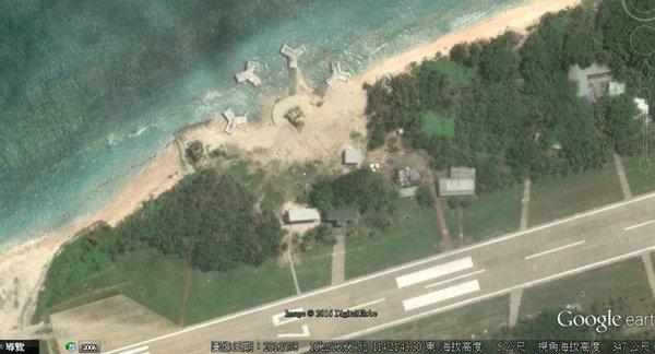 资料图:太平岛出现大型神秘建筑。