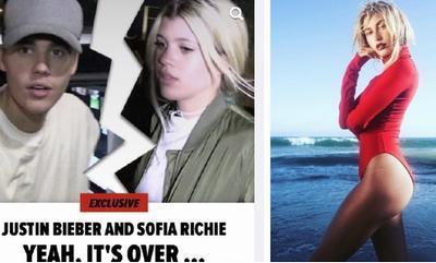 贾斯汀比伯被曝和现任女友分手(左)前任模特女友(右)