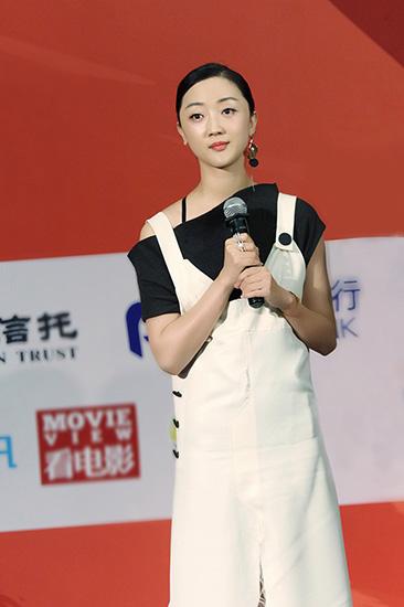 张瑶在丝绸之路电影节接受采访