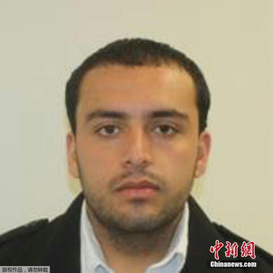新泽西州警方提供的疑犯拉哈米的大头照。
