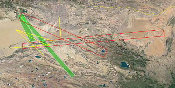 其中,绿色框内禁航时间从1:20-2:00,红色框内金航事件从2:20-3:30,黄色线条则是从1:20持续到3:30。
