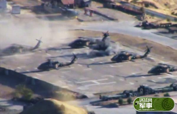 土耳其一军事基地遭袭 黑鹰直升机扎堆挨炸(组图)